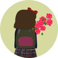La alumna, el día 22 de abril, abona el importe, recoge las rosas y se las lleva a casa.