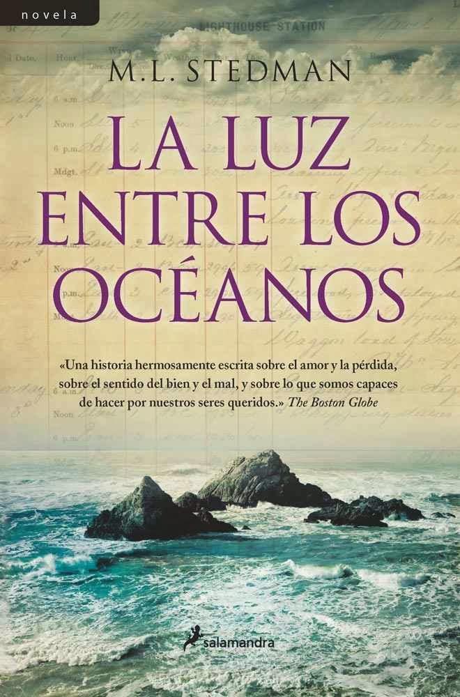 La luz entre los oceanos portada de libro